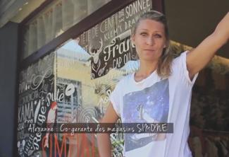 Alexane, co gérante des magasins SIMONE
