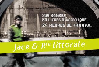 Jace peint la façade du tunnel à Saint-Denis Réunion